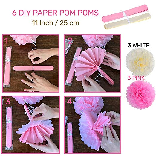 14pcs/set 1st Birthday Girl Party Decorations Pink Theme Baby Shower Supplies Little Baby Party Decoration Kit - 副本