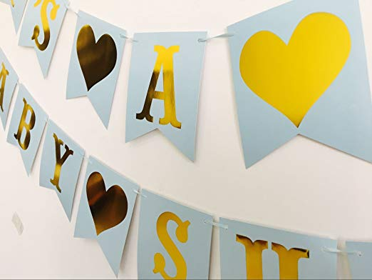 Multi Themes It's A Girl/Boy Banner Baby Shower Birthday Party Decorations Photo Booth Happy Birthday Bunting Garland Flags - 副本