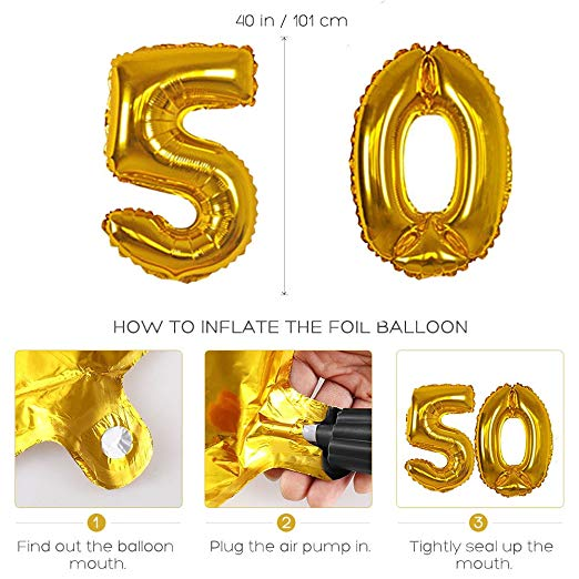 DIY Tissue Flowers Pom Poms Paper Garland Banner Balloons Kit for 40th Birthday Party Decoration - 副本