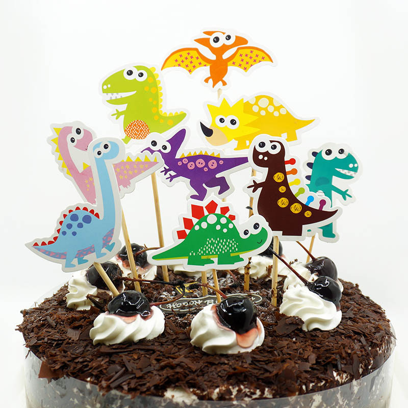 Dinosaur Cupcake Toppers Picks Cake Toppers for Kids Birthday Baby Shower Party Decorations Supplies